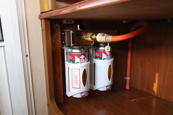 キッチン用ガスボンベ